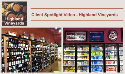 Click to view a client spotlight video for Highland Vineyards.